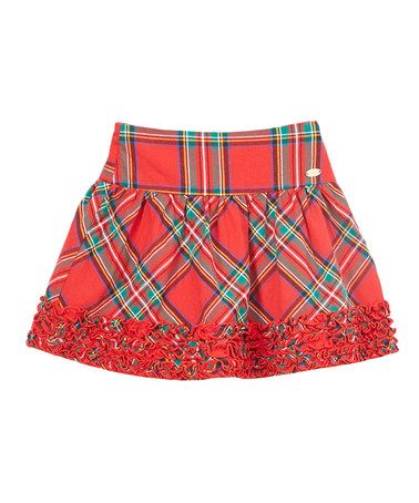 d865fe903b Loving this Red & Green Tartan Plaid Skirt - Toddler & Girls on #zulily!  #zulilyfinds