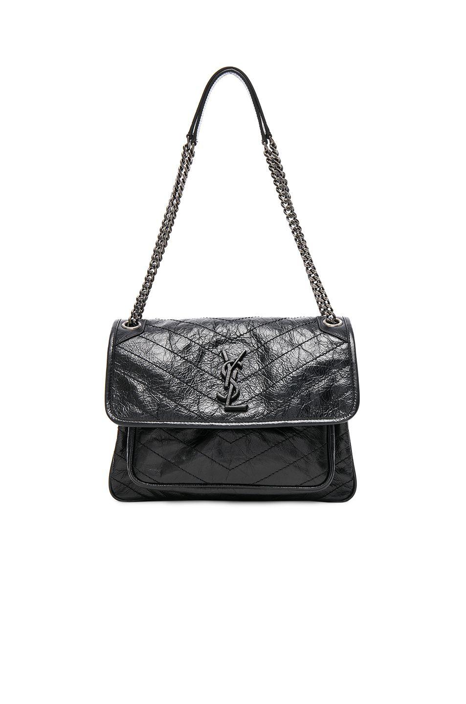 2c695429fc SAINT LAURENT Medium Niki Monogramme Chain Bag. #saintlaurent #bags  #shoulder bags #leather #lining #