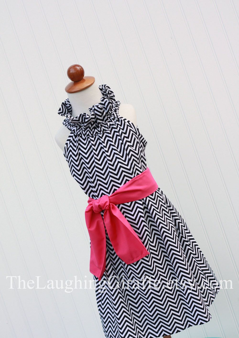 631cadc0825 Too cute for little girls  Pink Licorice...Chevron Ruffler Dress with  Monogram...Size 3