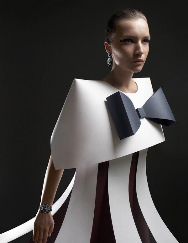 Photo of Paper Sculpture Fashion by Zaharova and Plotnikov