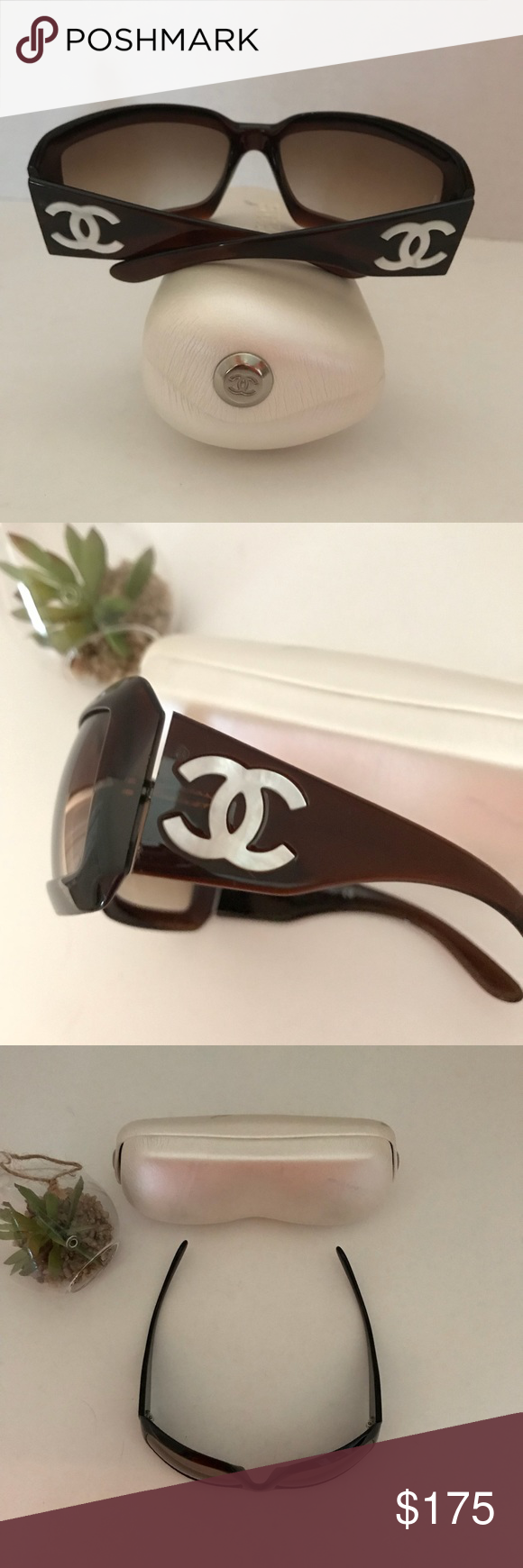 d70e4b39e99 ... this listing on Poshmark  ✳ 💯 Chanel Mother of Pearl Sunglasses.   shopmycloset  poshmark  fashion  shopping  style  forsale  CHANEL   Accessories