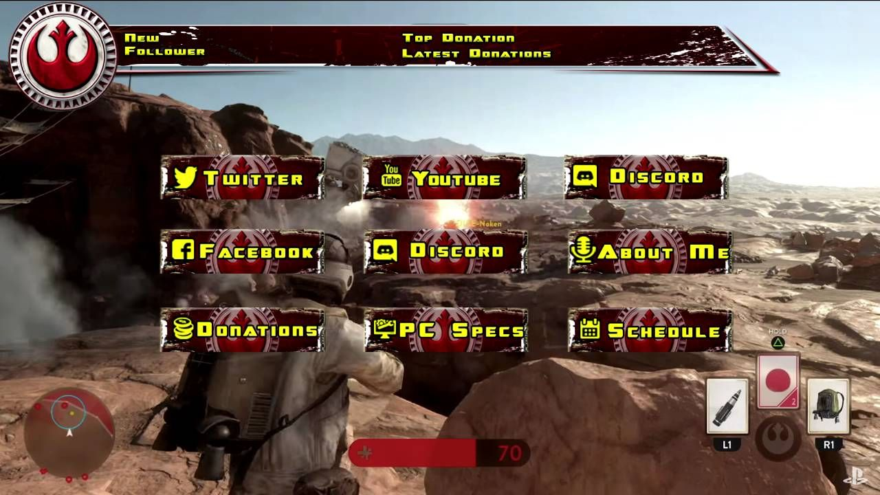 Free StarWars Resistance Twitch Overlay and Panels for your stream