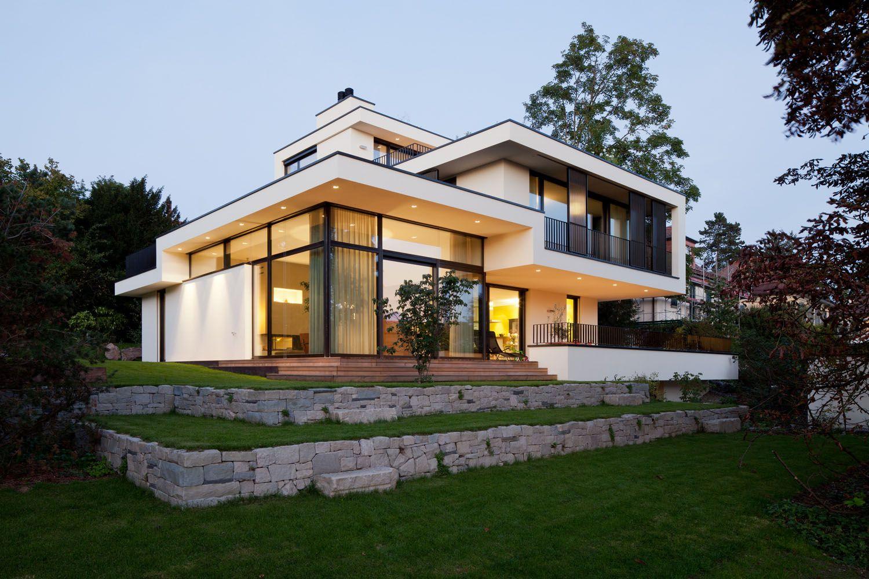 Fassade Modern süd fassade haus in zürich modern evler