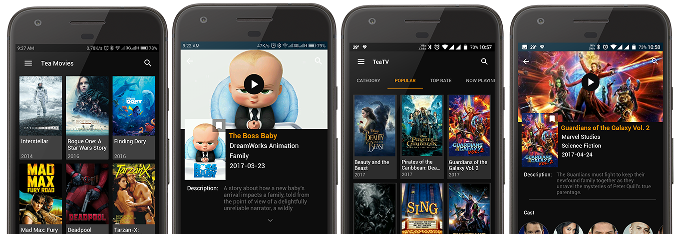 TeaTV Best Free 1080p HD Movies, TV Shows App For Mobile