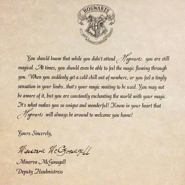 Most Wonderful Rejection Letter From Hogwarts  Potterwatch