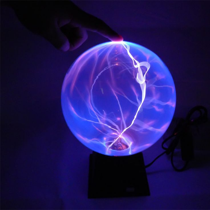 6 5 3 Inch Plasma Ball Sphere Lamp Magic Globe Electric Nebula