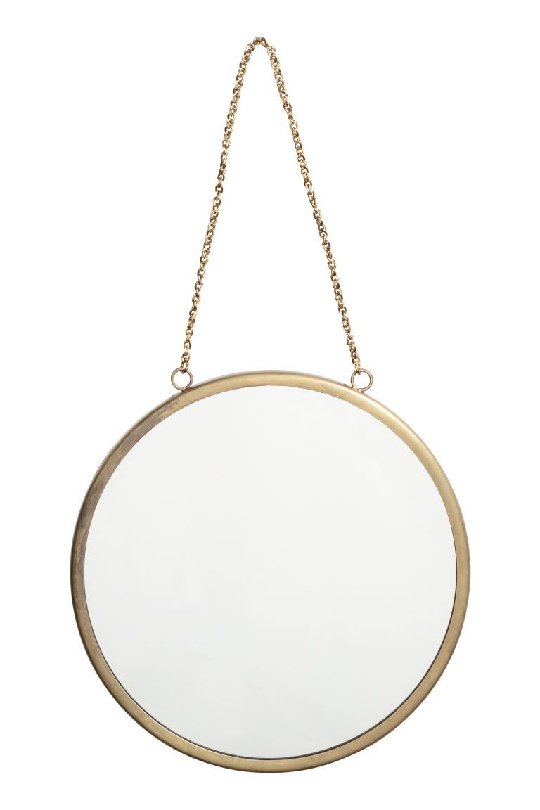 H M Round Wall Mirror Gold House And Home Round Wall