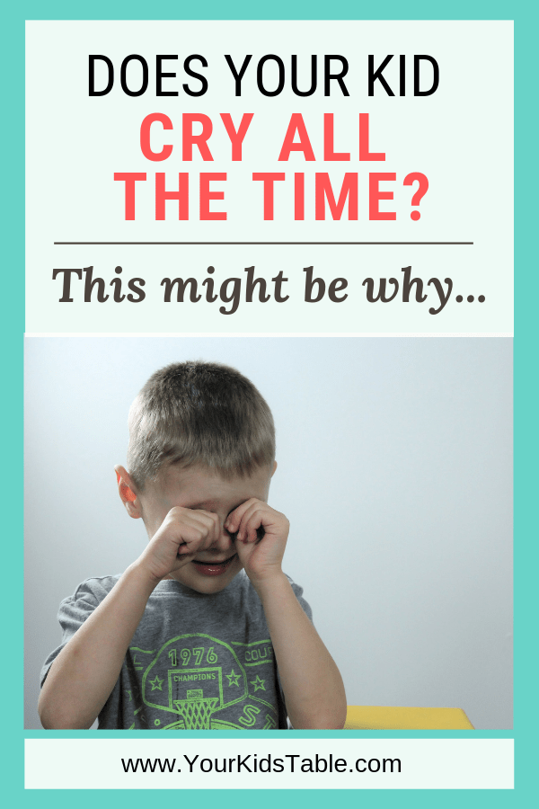 Does Your Child Cry All The Time This Might Be Why Your Kid S Table Crying Kids Kids And Parenting Crying
