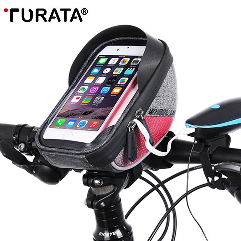 Turata 6 0 Inch Bike Mobile Cell Phone Waterproof Bag Stand Holder For Samsung Galaxy S8 Plus S7 S6 S5 Iphone Xiaomi Waterproof Phone Waterproof Bags Bag Stand