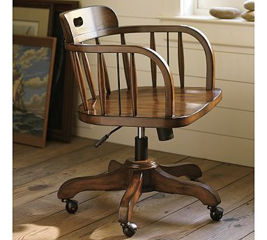 Awesome Captains Swivel Desk Chair Potterybarn So Nautical Reminds Machost Co Dining Chair Design Ideas Machostcouk