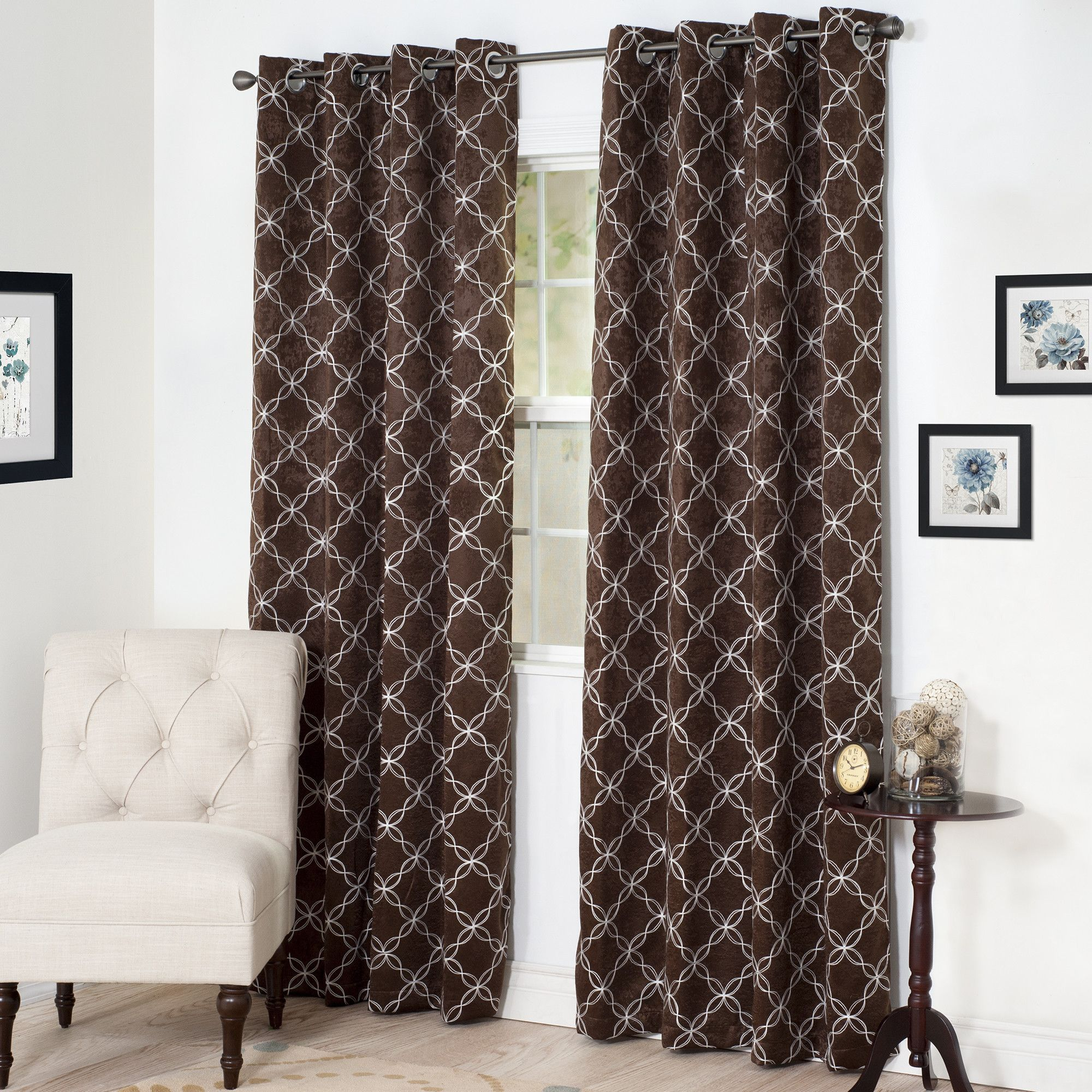Myra Single Curtain Panel Products Pinterest - Cortinas-marron-chocolate