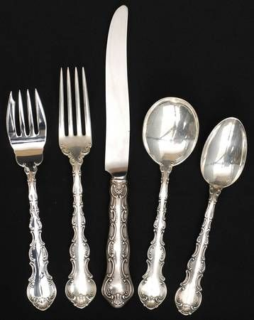 TOWLE OLD MASTER STERLING SILVER DINNER FORK VERY GOOD CONDITION M S