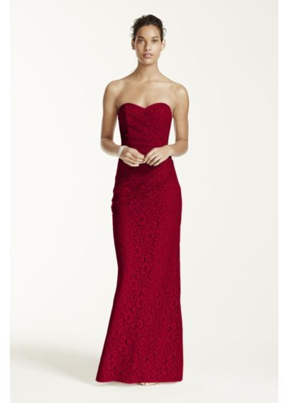 Long Strapless Lace Dress with Sweetheart Neckline W10329 ...