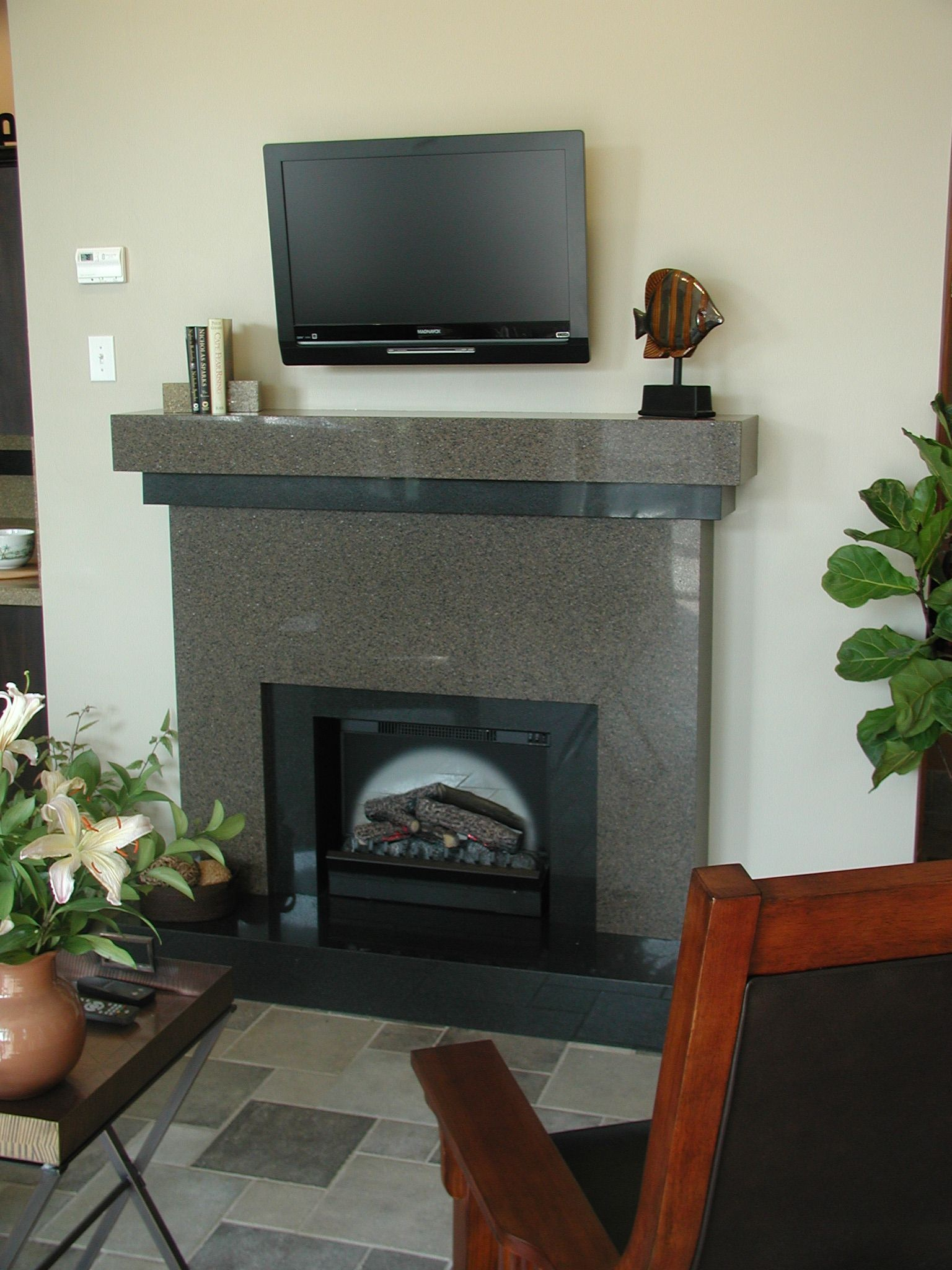 #Fireplace transformation by Granite Transformation ...