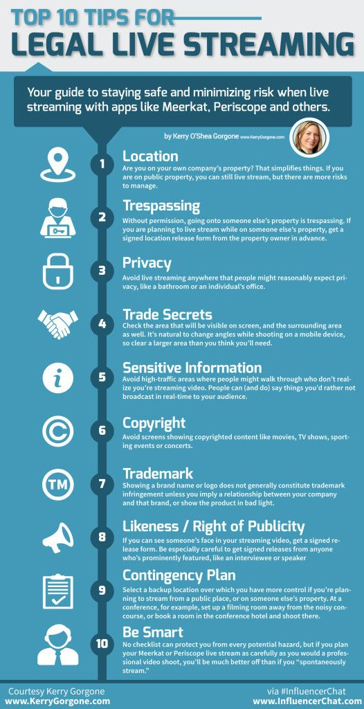 What Are 10 Ways To Tell If Your Live Stream Is Legal? #infographic