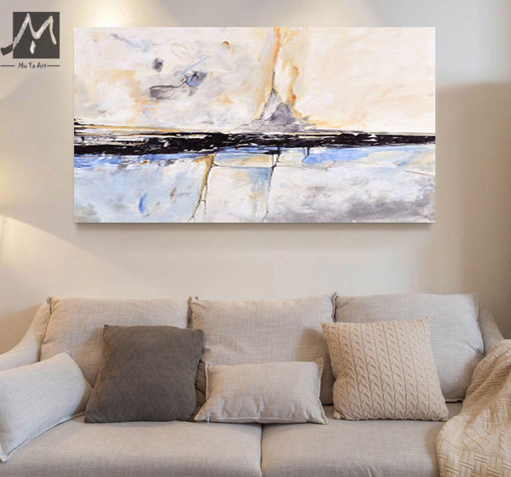 MUYA Abstrakte Malerei Acryl Malerei Abstrakte Gemälde Wohnzimmer  Schlafzimmer Home Interior Strand Haus Dekor Geschenk In MUYA Abstrakte  Malerei Acryl ...