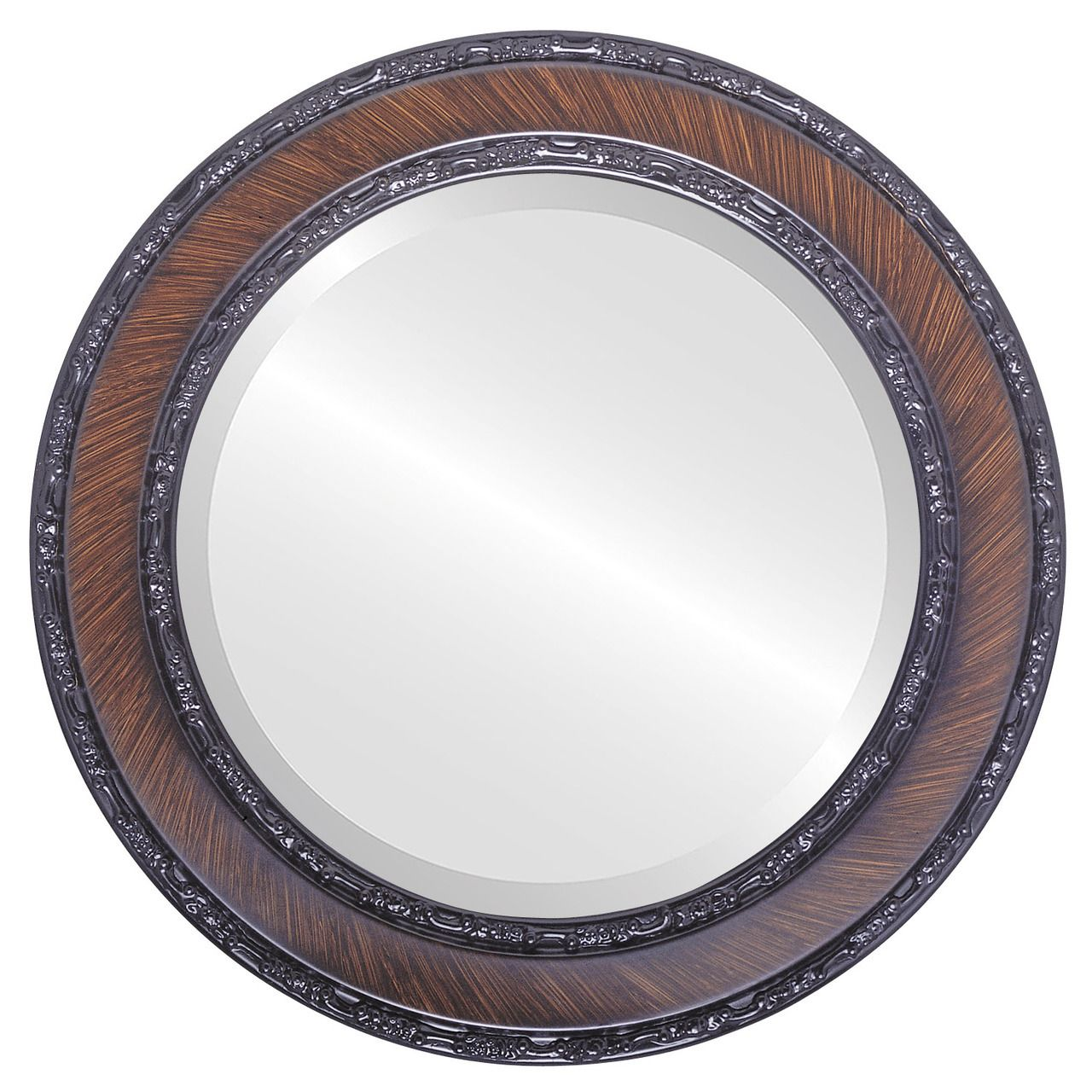 Brown Round Mirrors From 127 Monticello Vintage Walnut Free Shipping