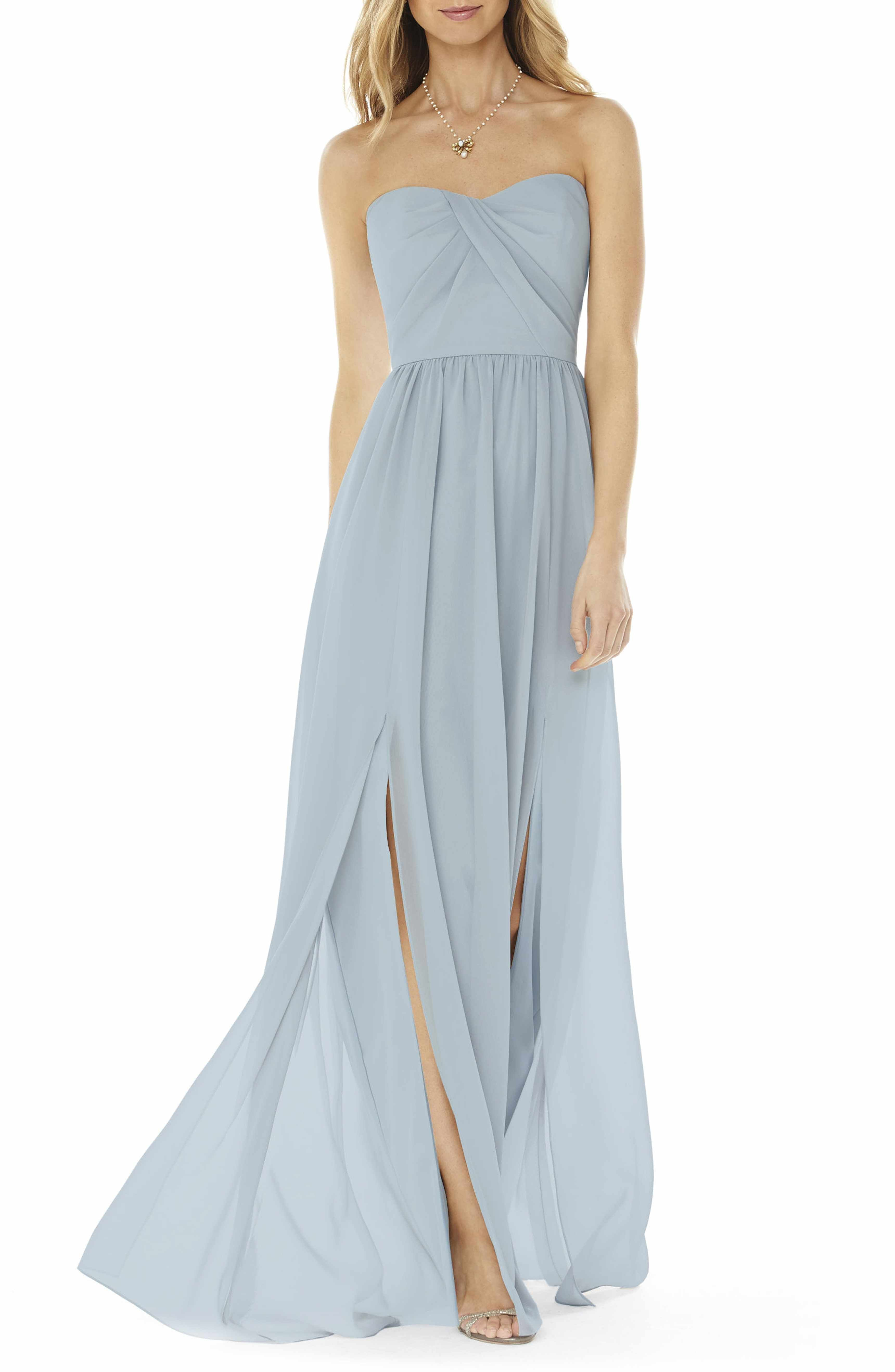 Main Image - Social Bridesmaids Strapless Georgette Gown | gowns ...