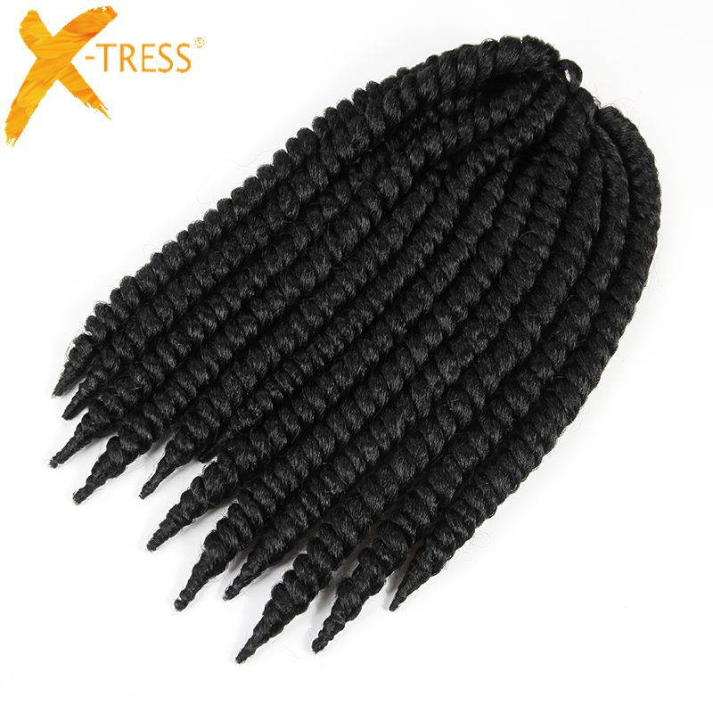 X Tress 1 Natural Black Omber Colors Synthetic Hair Extensions