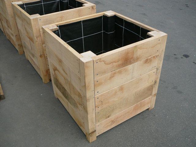 Plantenbakken oprit tuin ideeen pinterest for Zelf meubels maken van hout