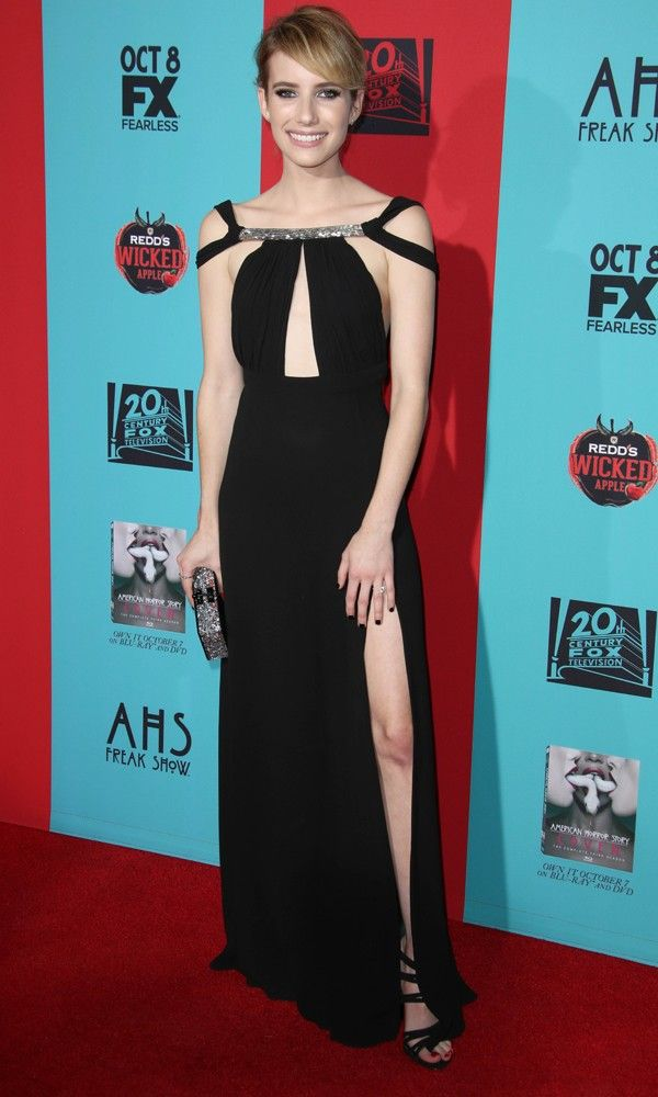 Emma Roberts Looks Timeless In Saint Laurent