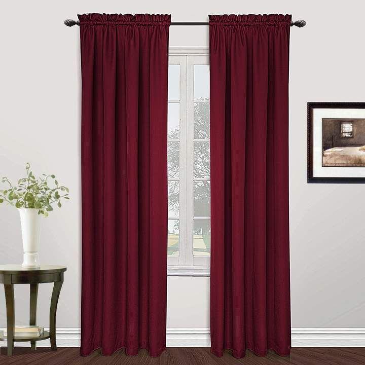 United Curtain Co 1 Panel Metro Window Curtains Burgundy