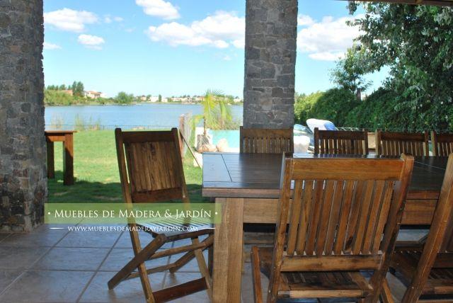 Sillas plegables de madera Con mesa para Galeria | Muebles de Jardin ...