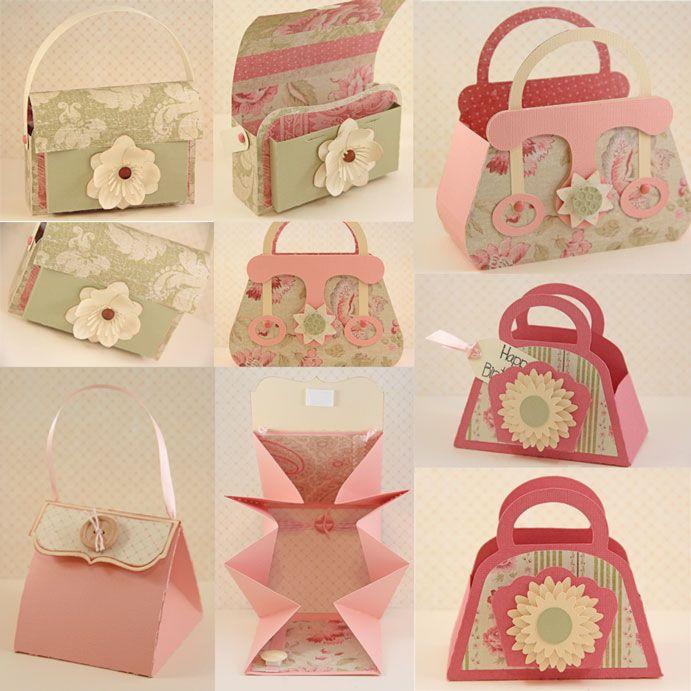 Handbag favor DIY Papercraft Handbag Scallop purse Handbag SVG Handbag PDF Silhouette Cameo files Party favor Favour,Goodies favor