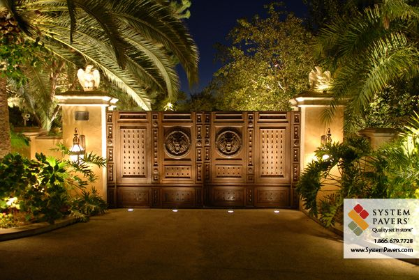 Outdoor Lighting By System Pavers Entrance Gates Design House Gate Design Entrance Gates