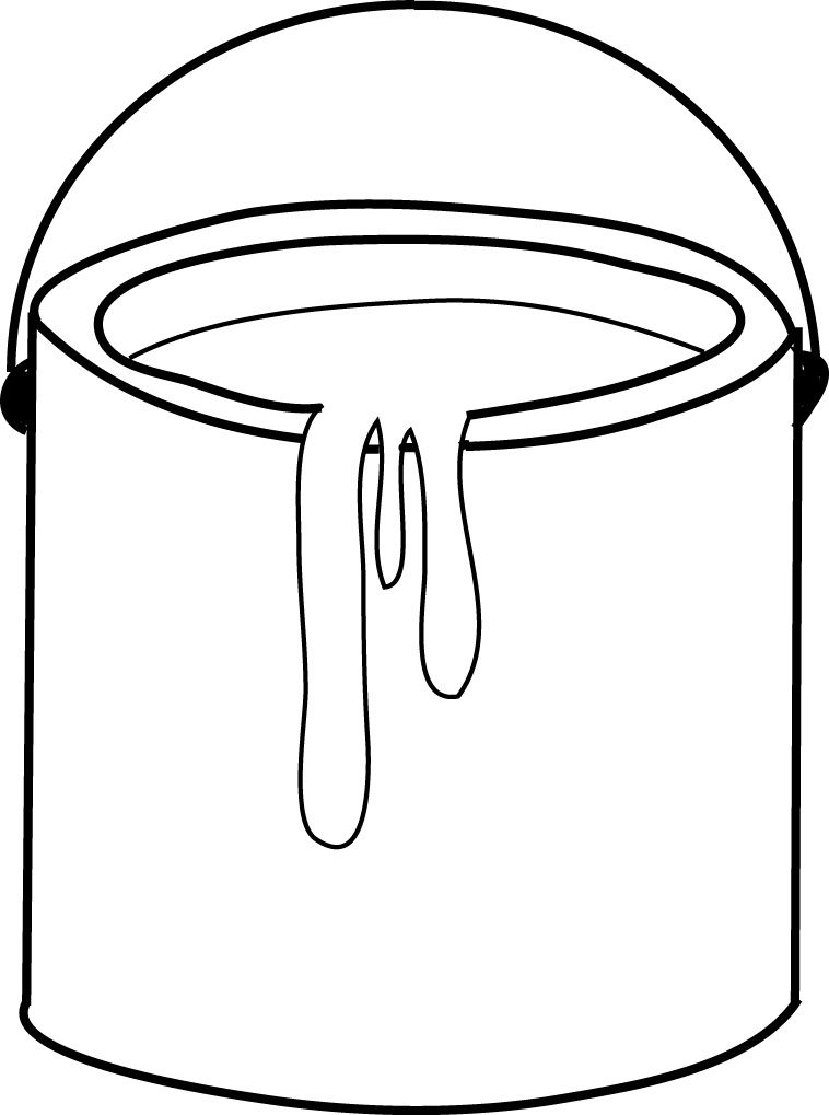 Paint Bucket Clip Art Paint Buckets Bucket Drawing Paint Cans