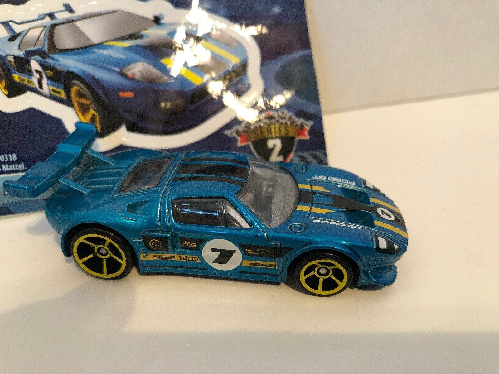 Hot Wheels 2019 Mystery Models Series 2 Ford Gt 7 New In Bag Beautiful Blue Ebay Ford Gt Hot Wheels Toy Car
