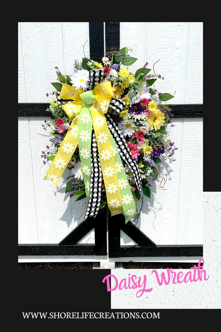 Photo of Daisy Spring/Summer Wreath