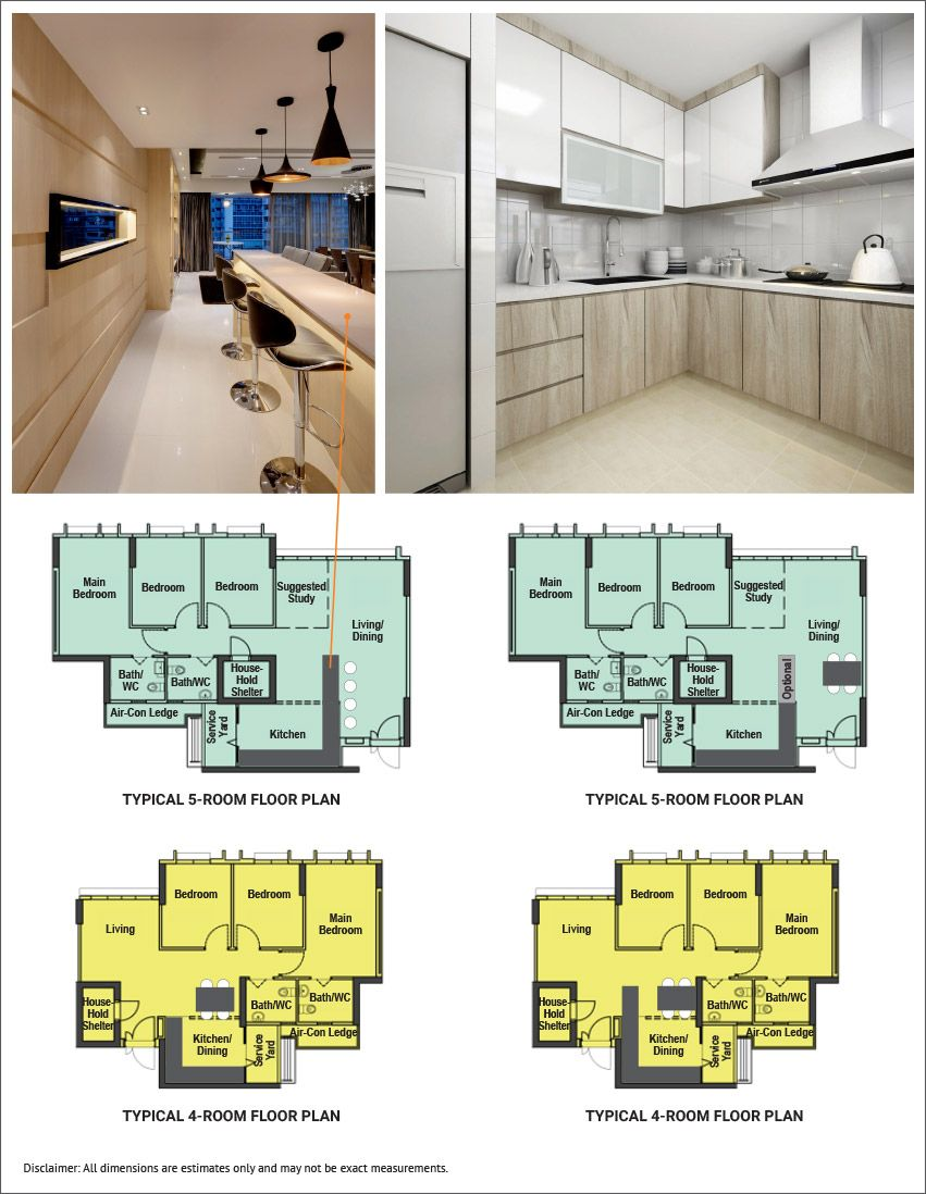 Hdb Flat Types And Their Sizes How To Plan Floor Plans Utility Rooms