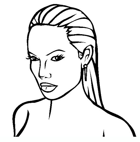 Angelina-Jolie Famous people coloring pages | Famous people | Pinterest