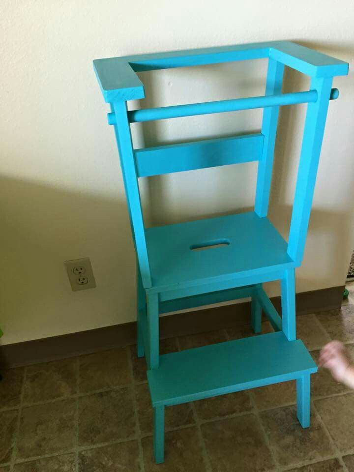 Learning Tower Using Ikea Step Stool Baby Play