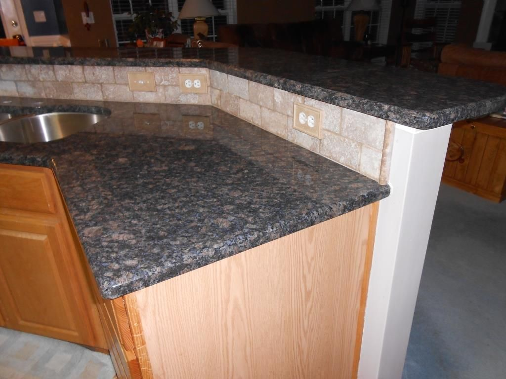 Blue Sapphire Granite Countertop Half Inch Bevel Edge 3x6 Walnut