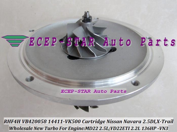 99.71$  Buy here - http://alif6t.worldwells.pw/go.php?t=32314334720 - Turbo CHRA Cartridge RHF4H VN3 VB420058 14411-VK500 14411-VK50B Turbocharger For NISSAN Navara 2.5L DI,X-Trail MD22 YD22ETI 2.2L 99.71$