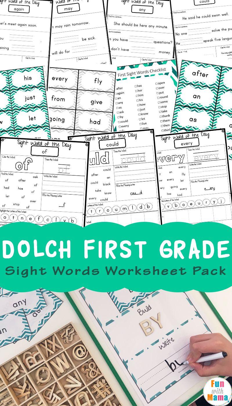 Dolch First Grade Sight Words Worksheets | Pinterest | Worksheets ...