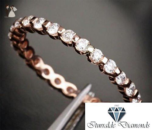 14k Full Eternity Pave Wedding Band Moissanite Stones - Wedding and engagement rings (*Amazon Partner-Link)