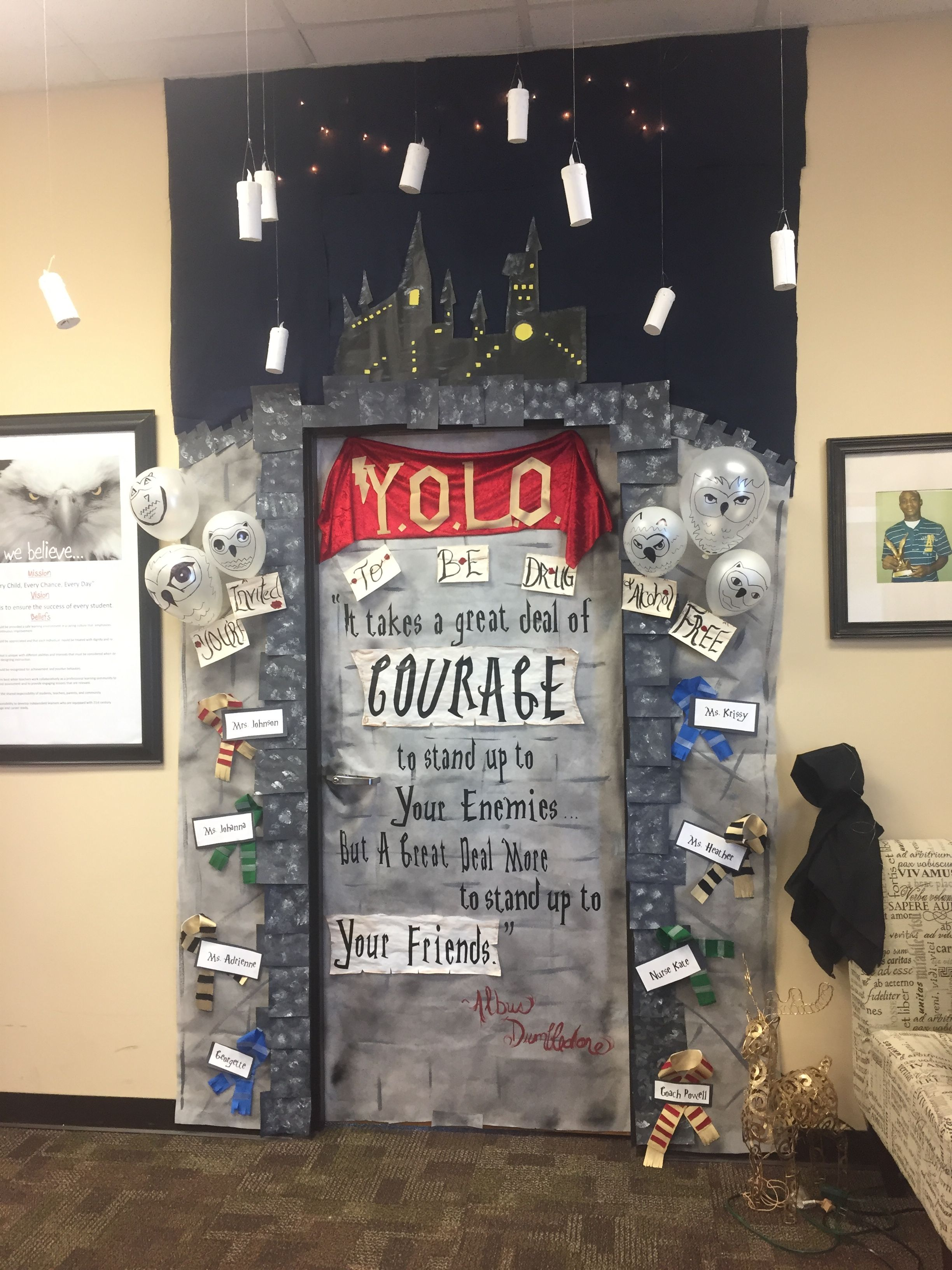 Harry Potter Door Decor For Red Ribbon Week Theme 2016 Yolo