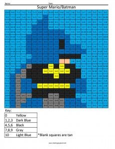 Superheroes | Coloring Squared | Pinterest | Batman, Squares and Math