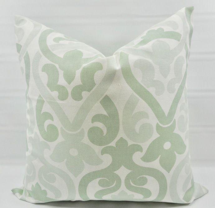 Light Sage Pillow Cover In Artichoke Alex Print Sofa Throw