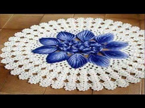Flor Tejida A Crochet En Punto Cocodrilo Y Relieves Para Aplicar En