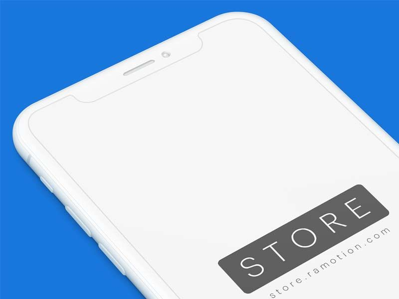 Download A Iphone X Clay White Perspective Mockup Available Free In Photoshop Psd Format Freebie Designed By Ramotion Down Mockup Free Psd Mockup Free Download Mockup