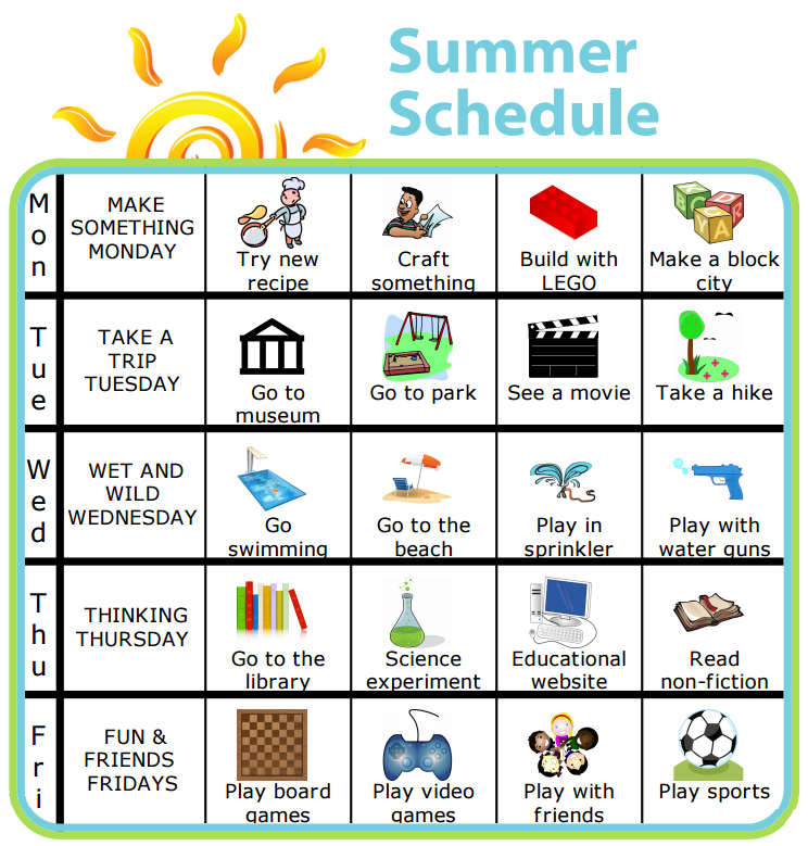 Make Your Own List Mobile or Printed Kids summer