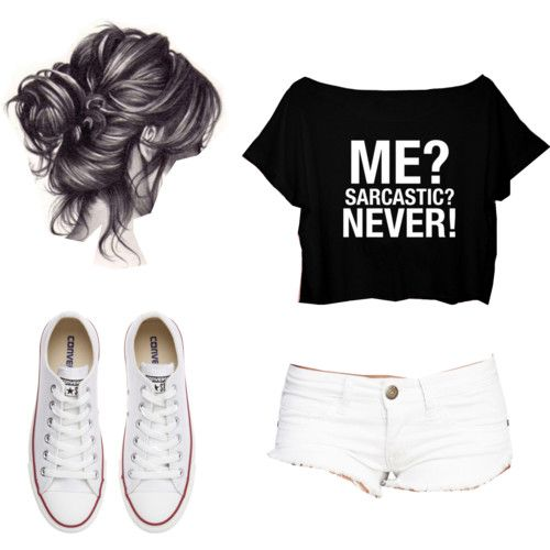 Untitled #67 by maho-coello on Polyvore featuring polyvore fashion style Wet Seal Converse