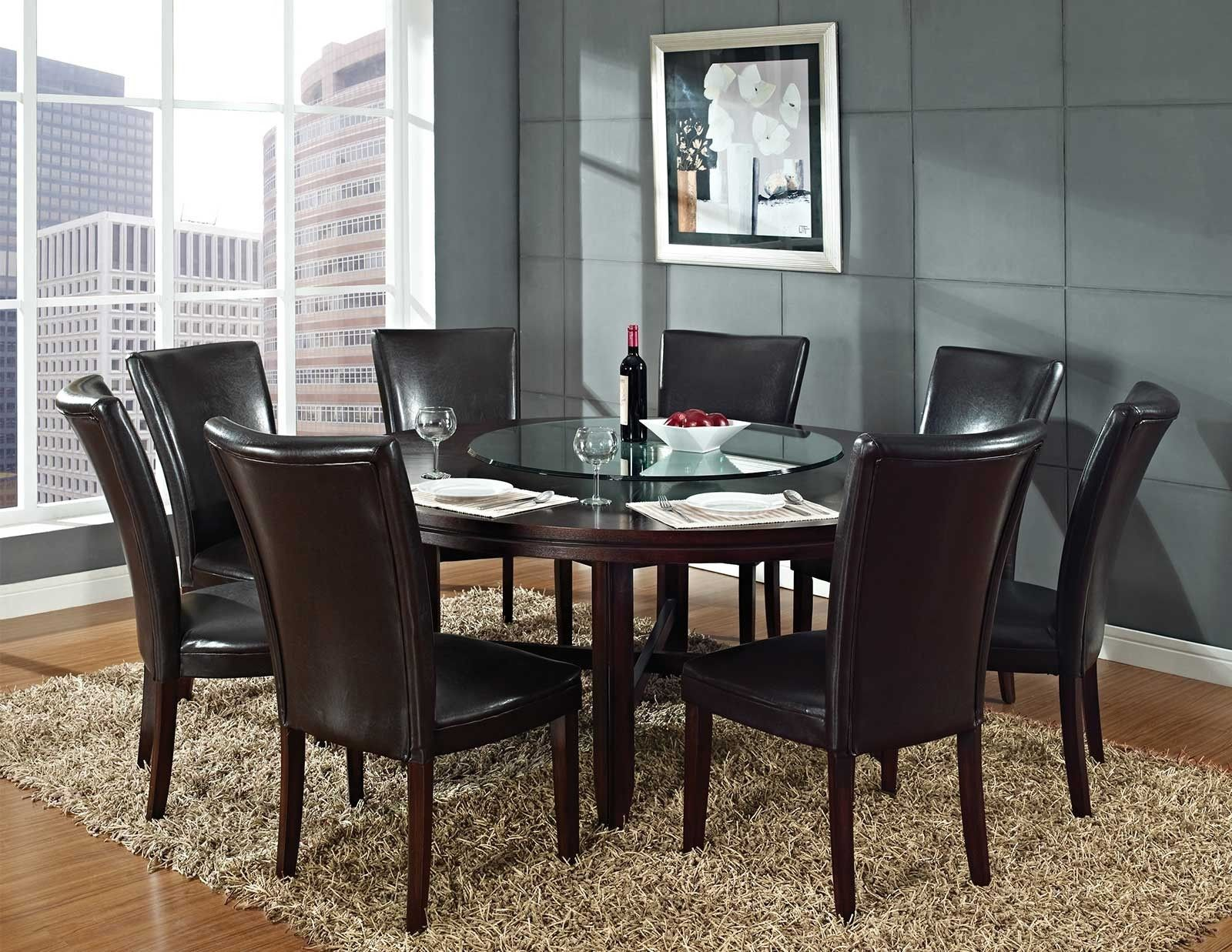 Round Glass Top Dining Table For 6