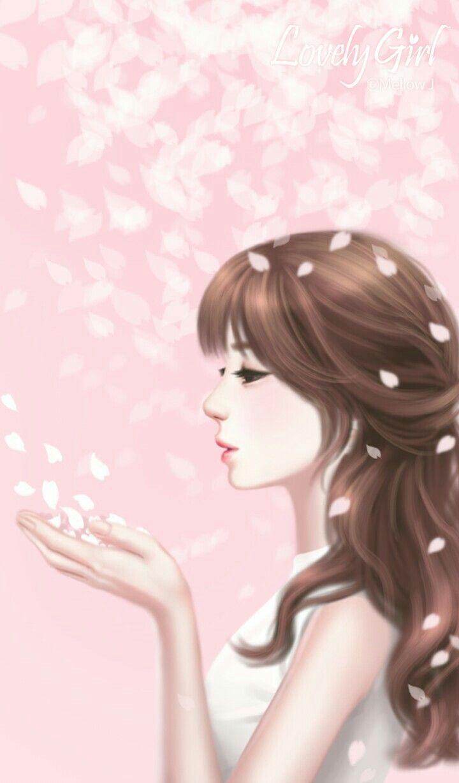 Cantik Gadis Animasi Animasi Ilustrasi
