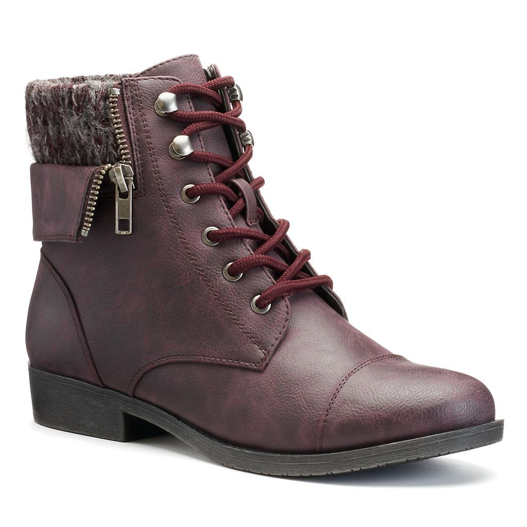 Mudd Womens Sweater Cuff Ankle Boots Shoes In 2018 Pinterest