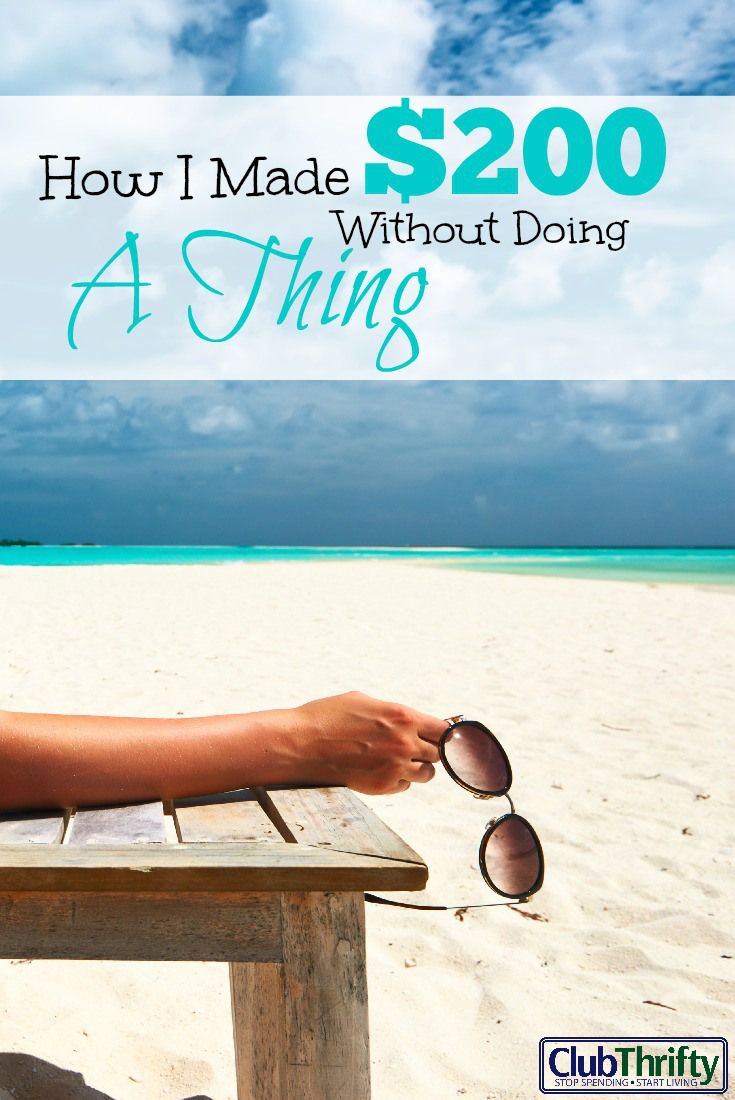 How i made 200 this week for doing nothing club thrifty